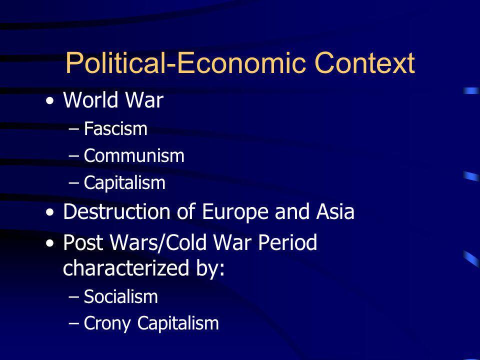 Political-Economic Context