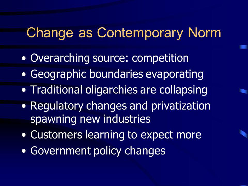 Change as Contemporary Norm