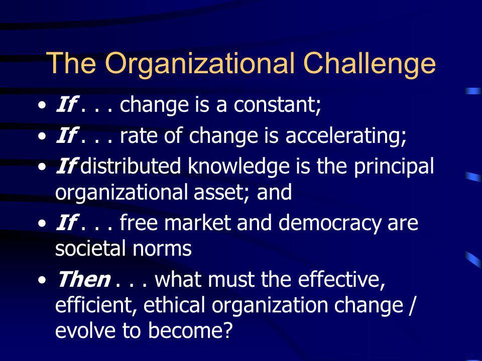 The Organizational Challenge
