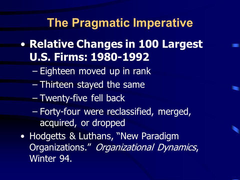 The Pragmatic Imperative