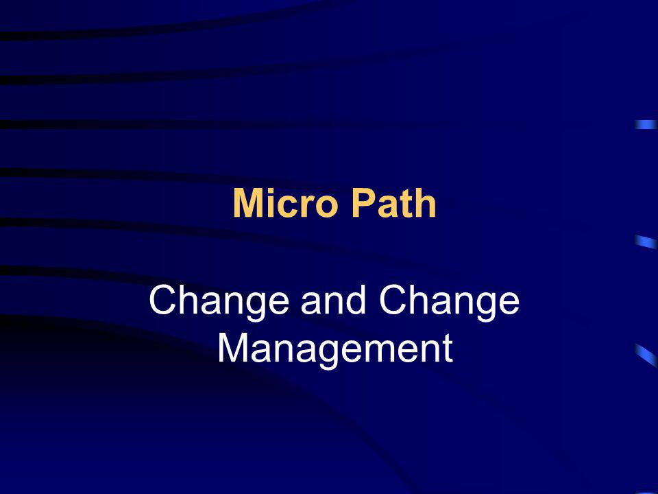 Micro Path Change and Change Management