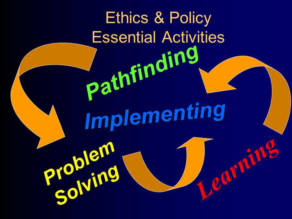 Ethics & Policy Essential Activities