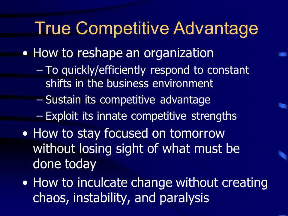 True Competitive Advantage