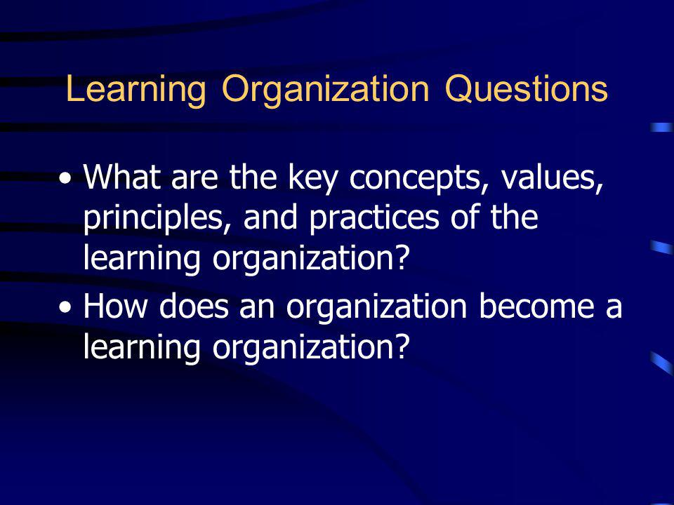 Learning Organization Questions