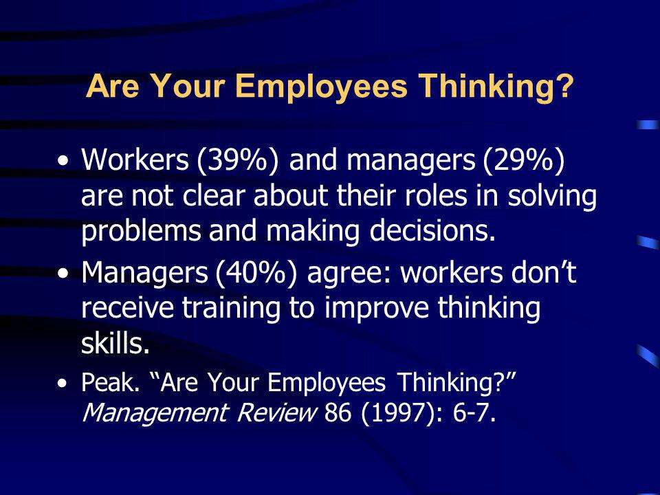 Are Your Employees Thinking