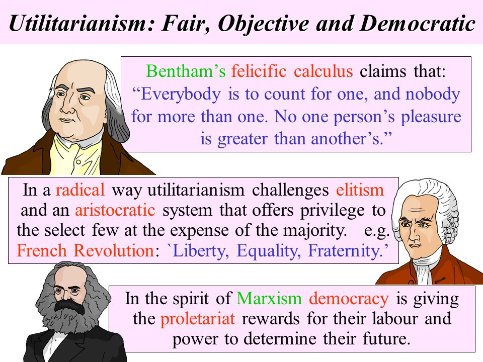 Utilitarianism: Fair, Objective and Democratic