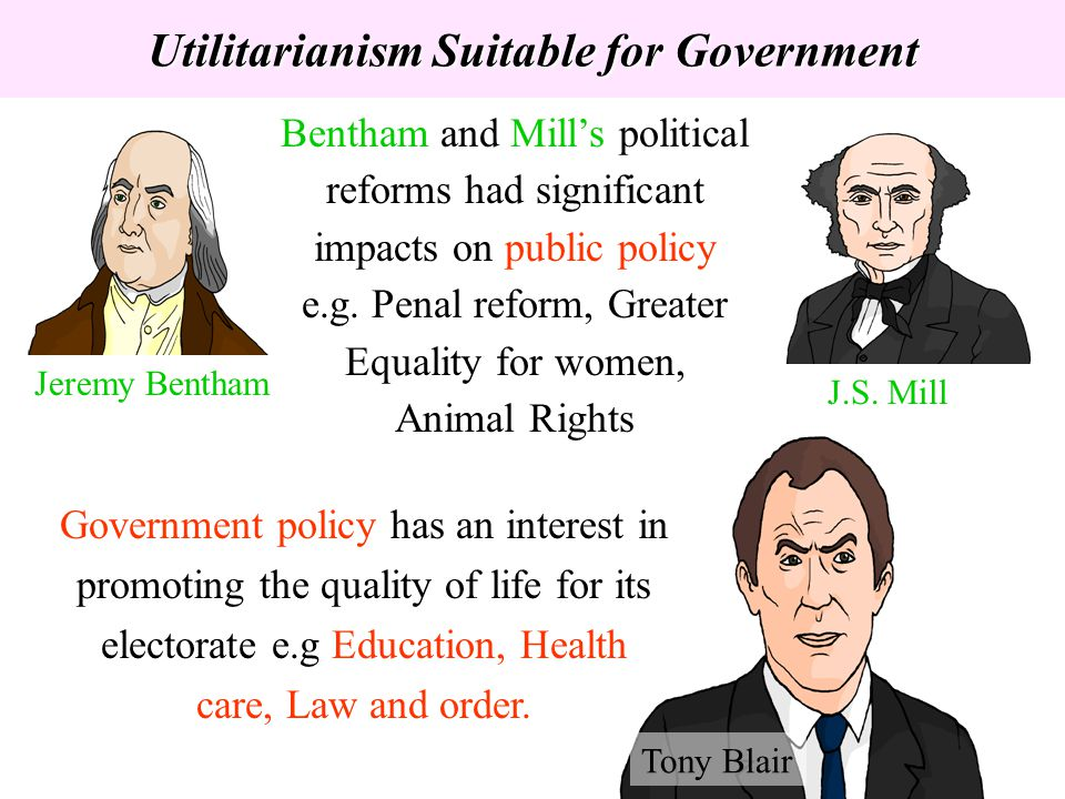 Utilitarianism Suitable for Government