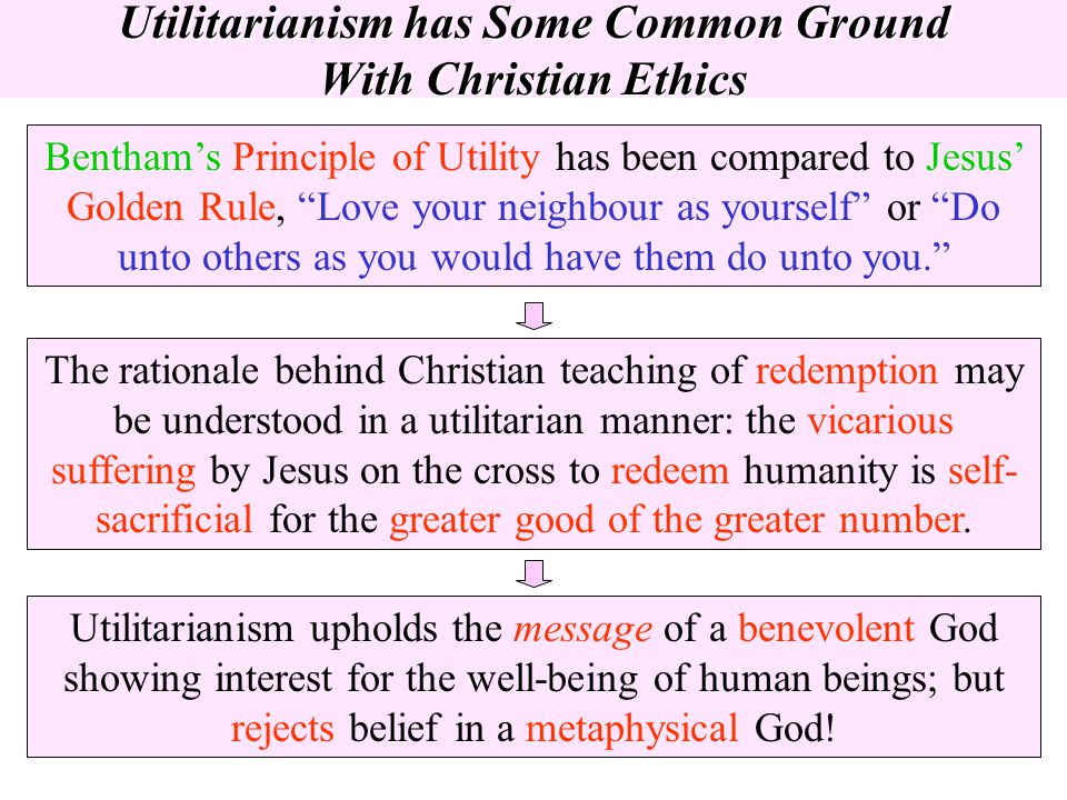 Utilitarianism has Some Common Ground With Christian Ethics