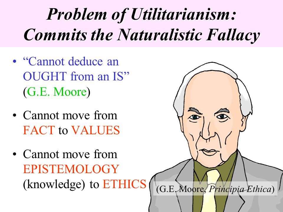 Problem of Utilitarianism: Commits the Naturalistic Fallacy