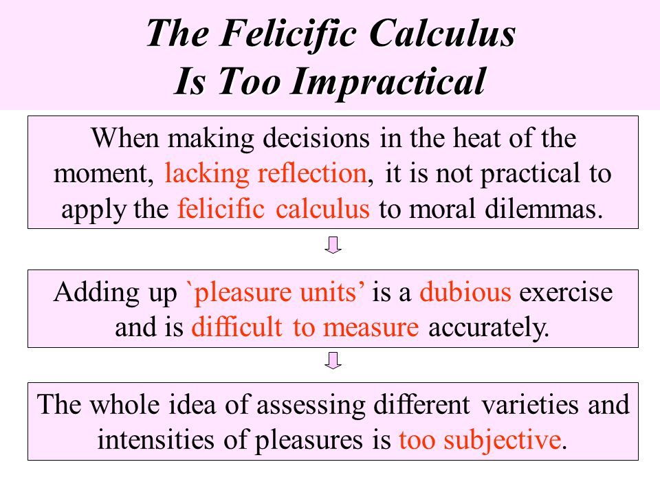 The Felicific Calculus Is Too Impractical