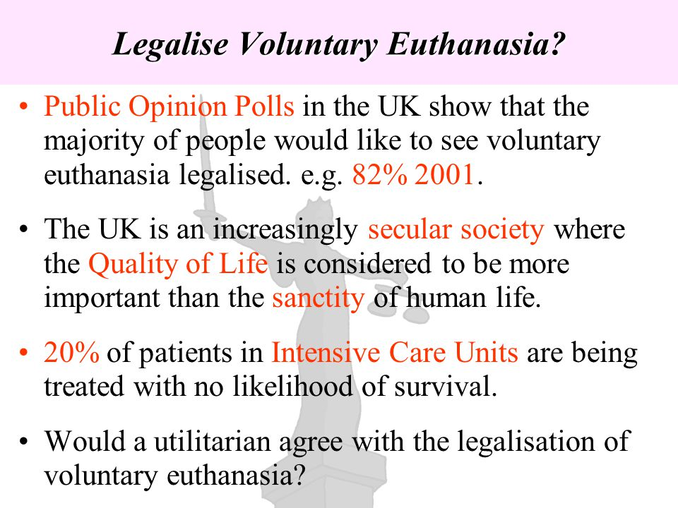 Legalise Voluntary Euthanasia