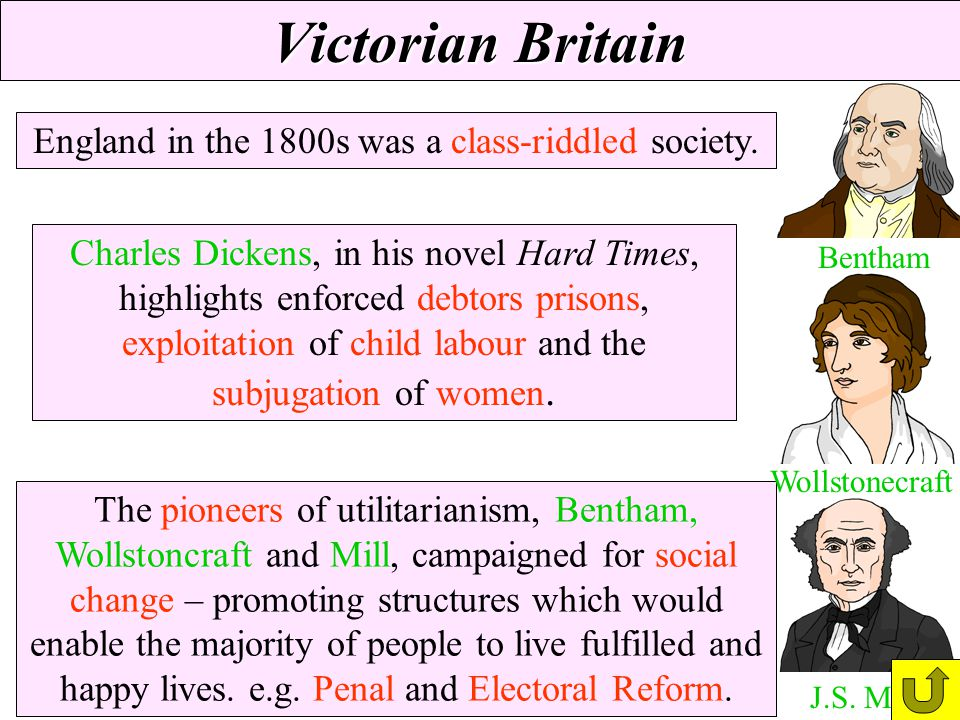 England in the 1800s was a class-riddled society.