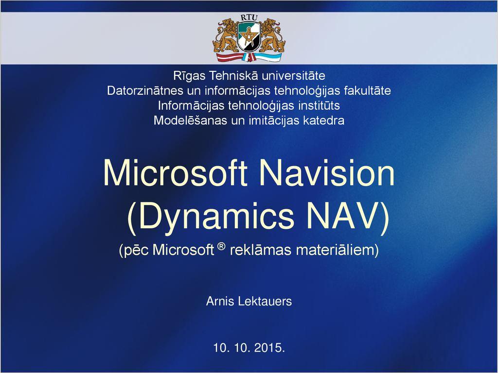 Microsoft Navision (Dynamics NAV) - ppt download