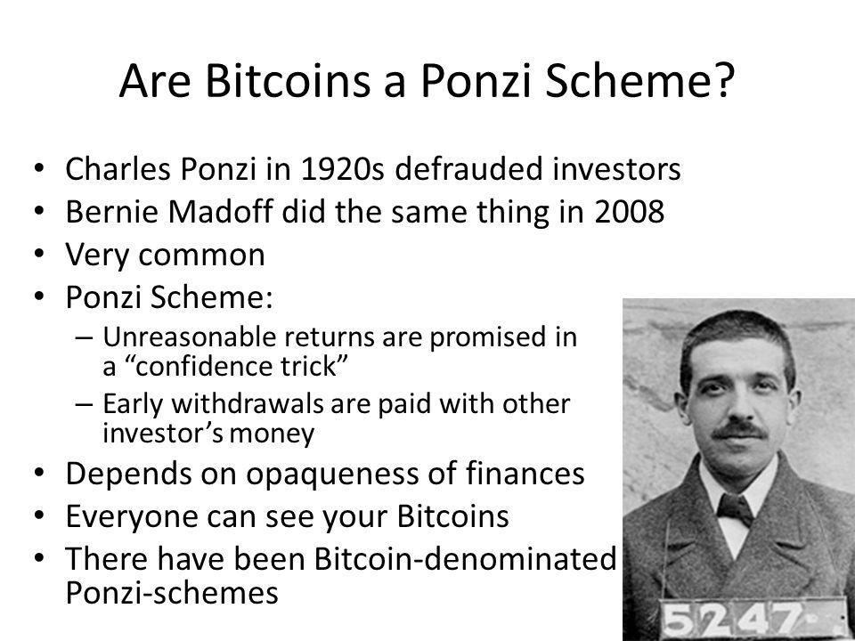 Are Bitcoins a Ponzi Scheme