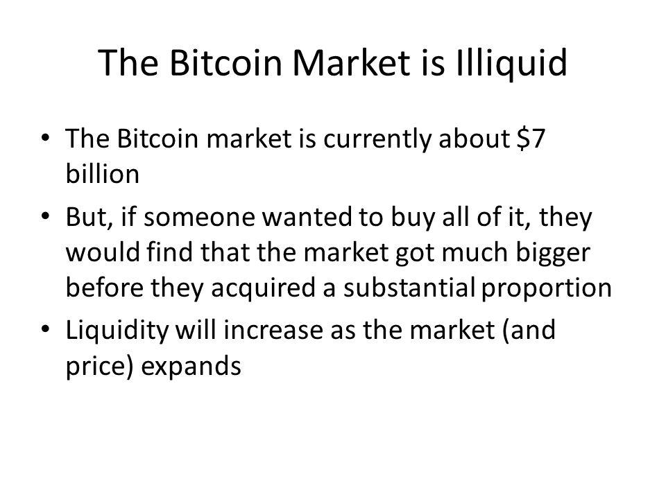 The Bitcoin Market is Illiquid