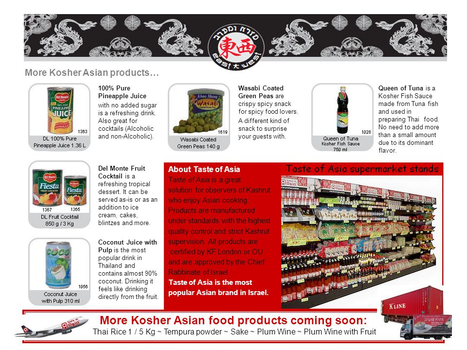 More Kosher Asian food products coming soon: