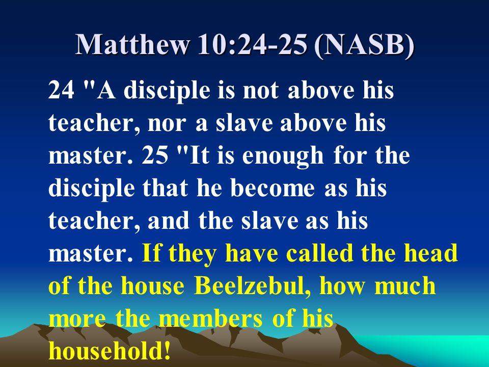 Matthew 10:24-25 (NASB)