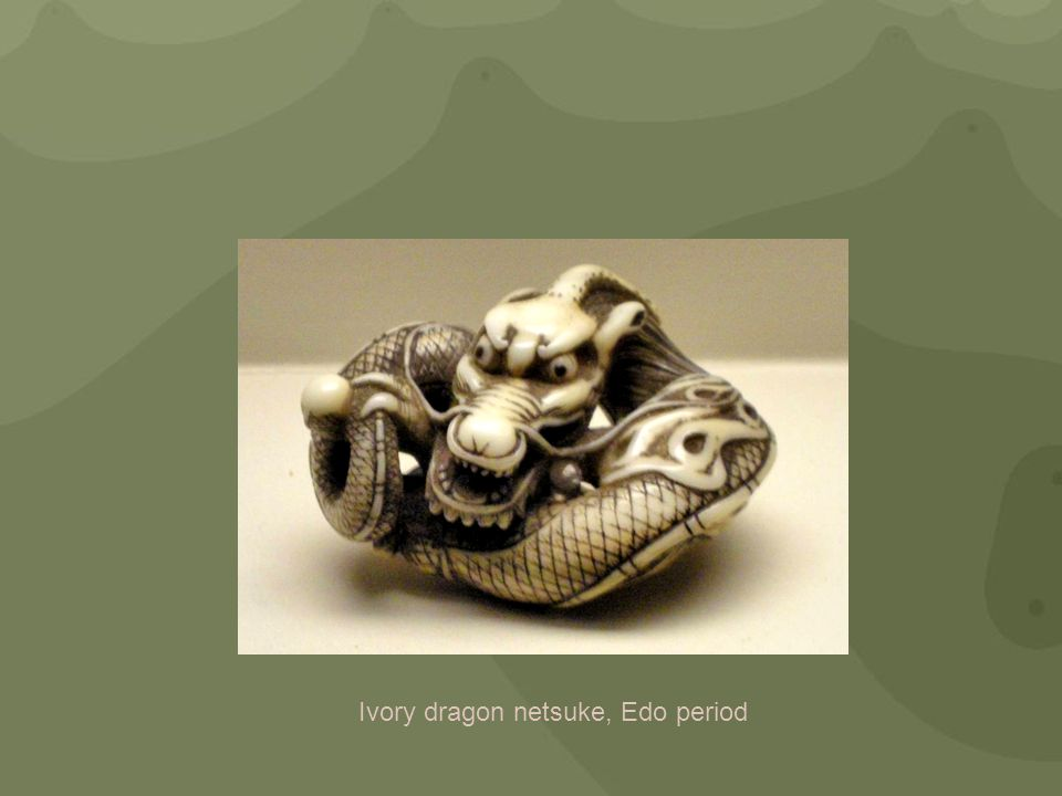 Ivory dragon netsuke, Edo period