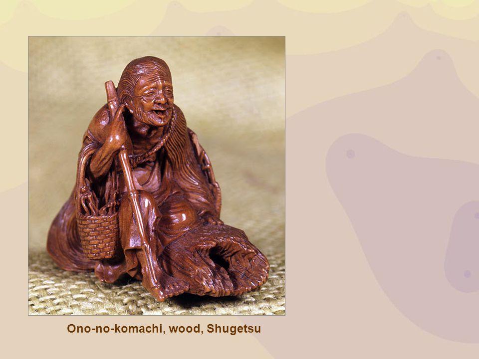 Ono-no-komachi, wood, Shugetsu