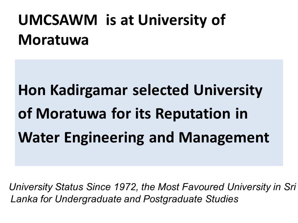 UMCSAWM is at University of Moratuwa