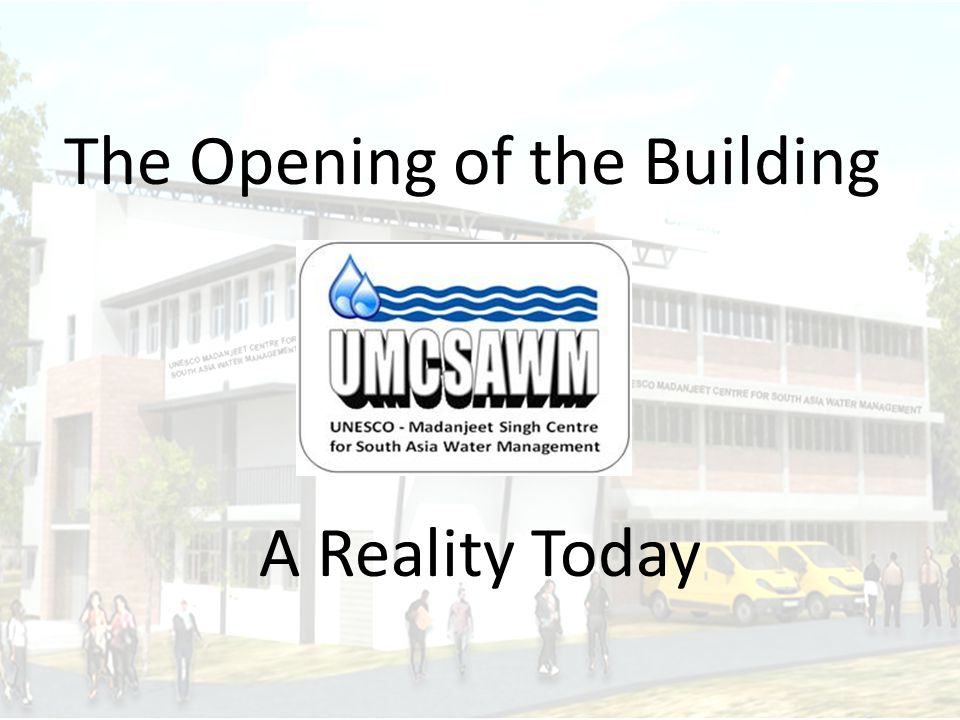 The Opening of the Building