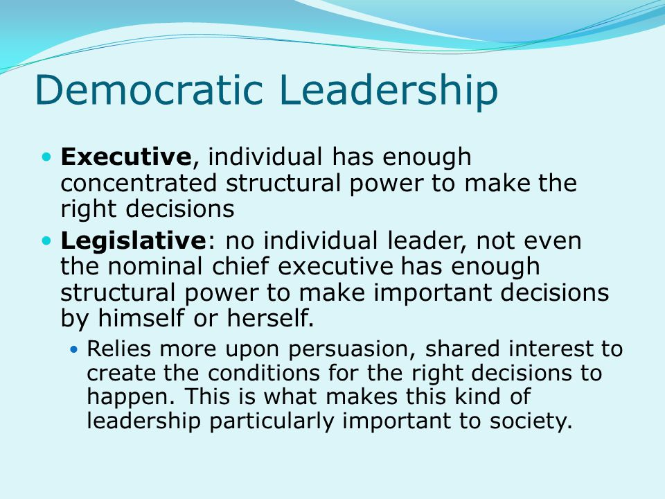 Democratic Leadership
