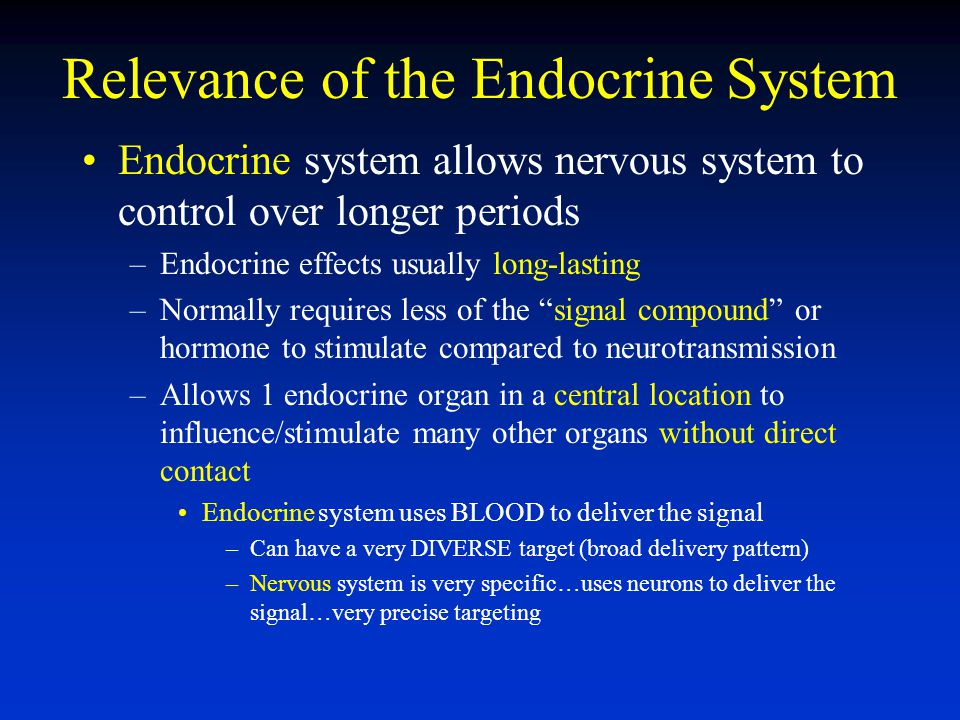 Relevance of the Endocrine System