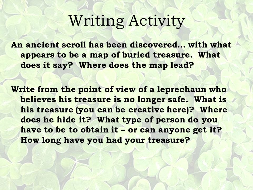 Writing Activity