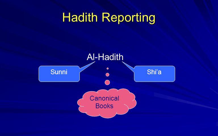Hadith Reporting Al-Hadith Sunni Shi'a Canonical Books