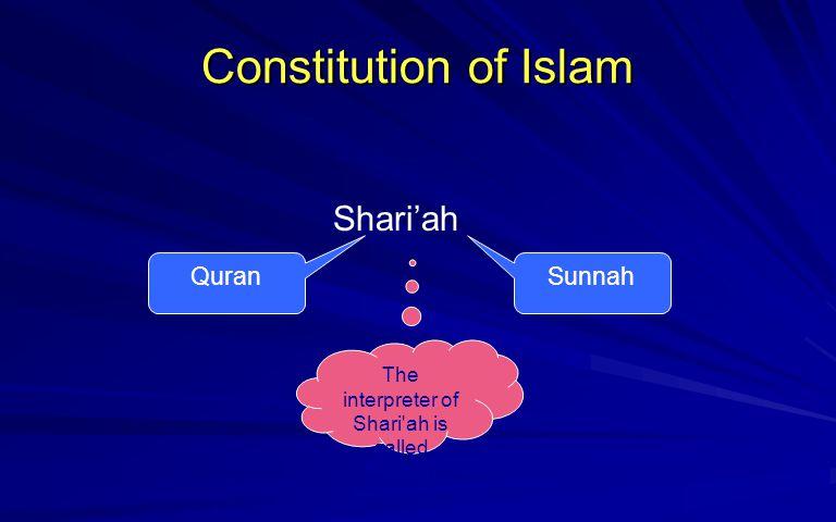The interpreter of Shari ah is called Faqeeh