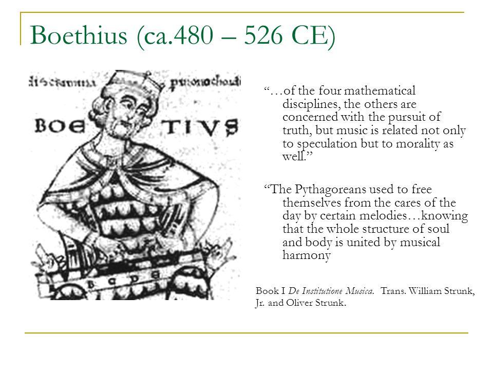 Boethius (ca.480 – 526 CE)