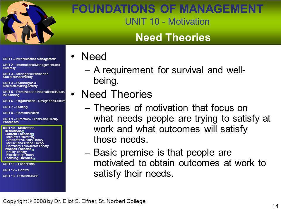 Need Theories Need Need Theories
