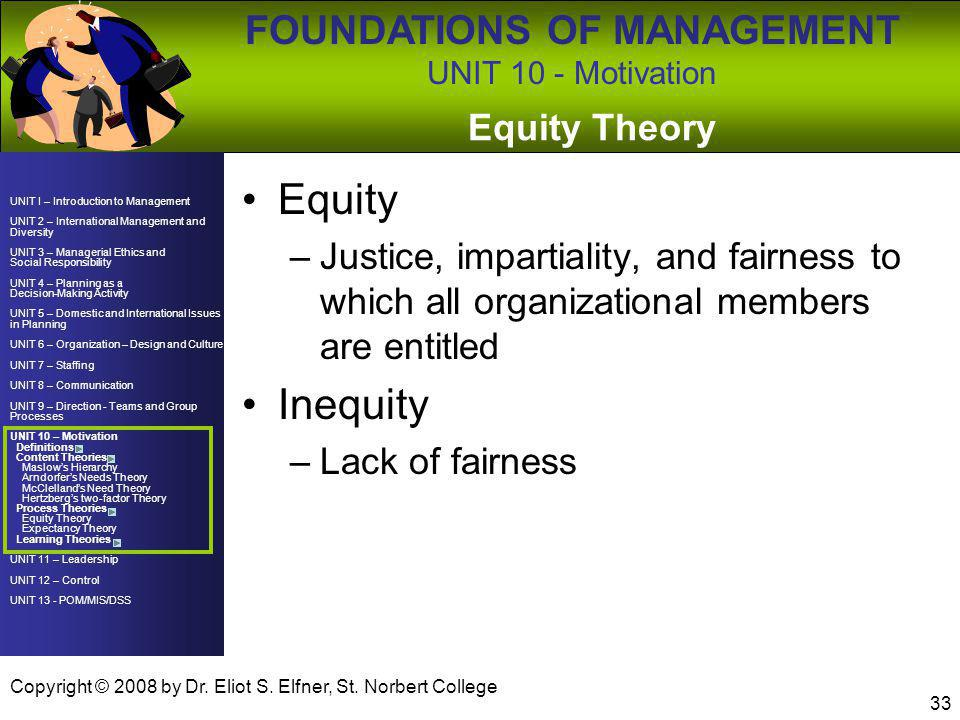Equity Inequity Equity Theory