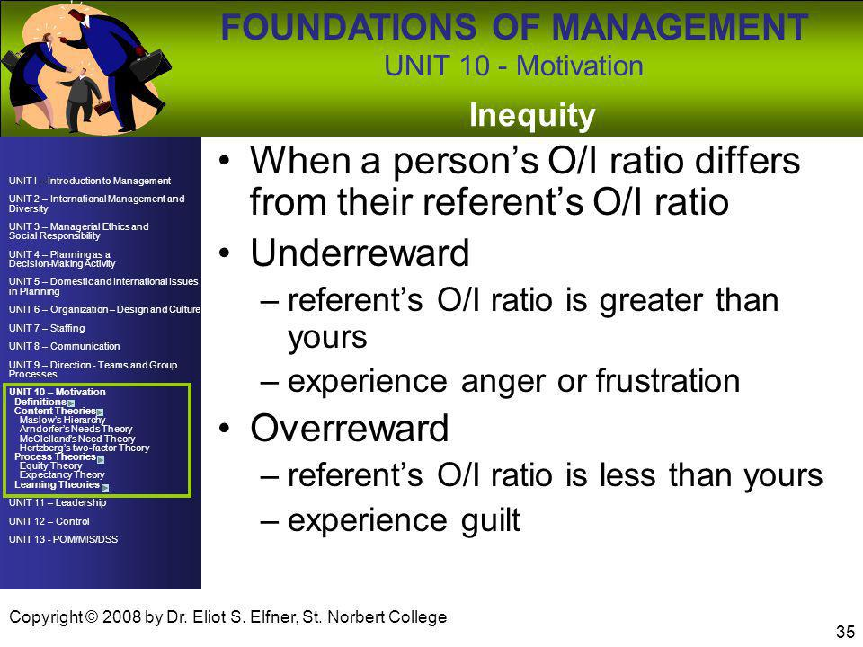 When a person's O/I ratio differs from their referent's O/I ratio