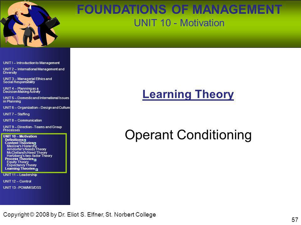 Operant Conditioning Learning Theory