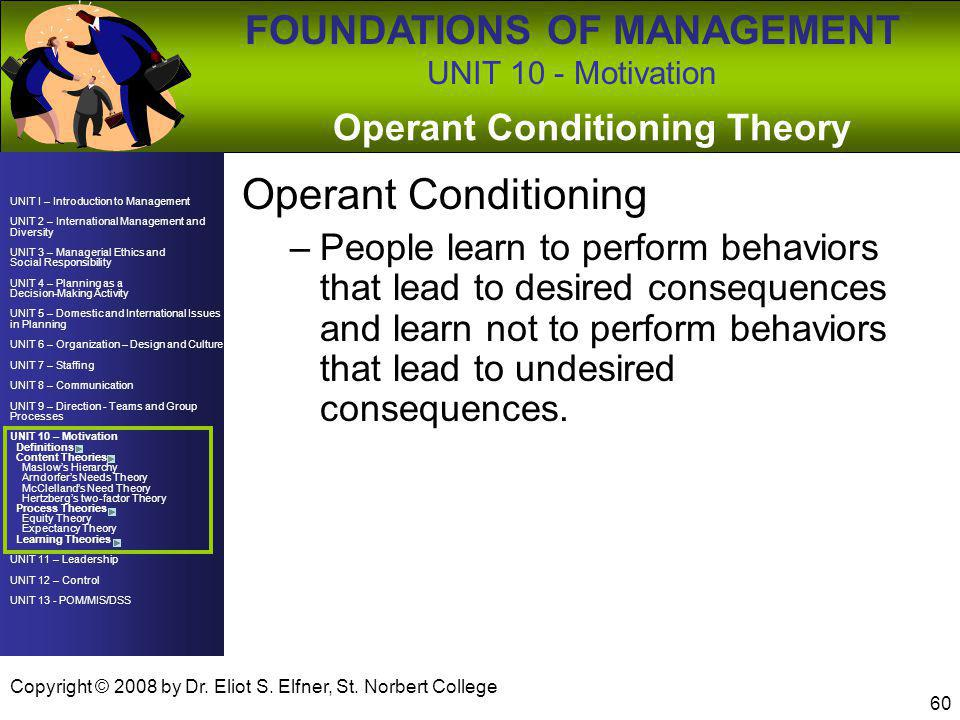 Operant Conditioning Theory