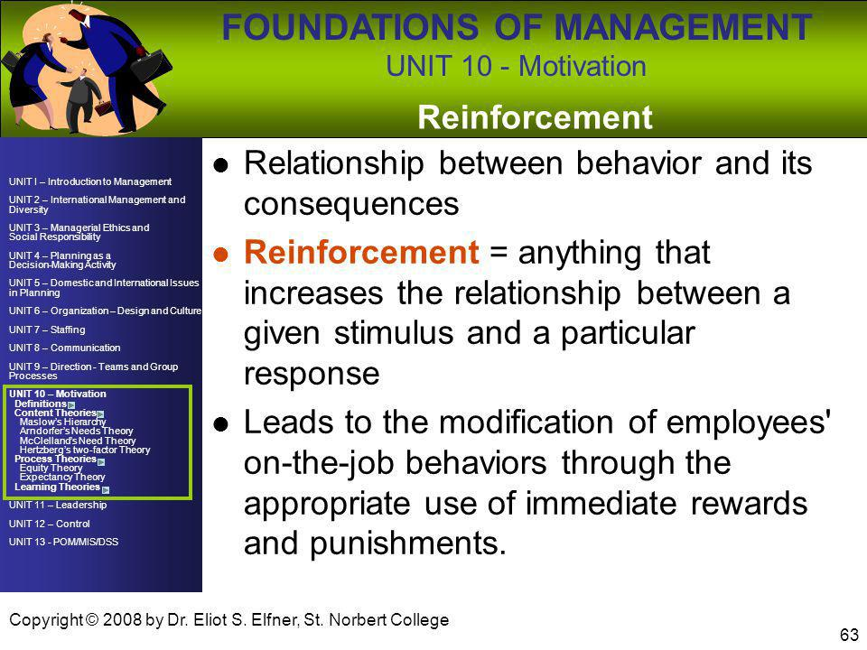 Relationship between behavior and its consequences