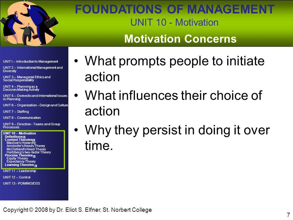 What prompts people to initiate action