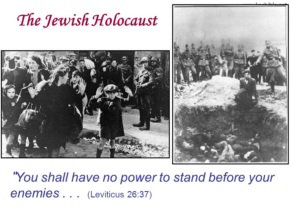The Jewish Holocaust You shall have no power to stand before your enemies . . . (Leviticus 26:37)
