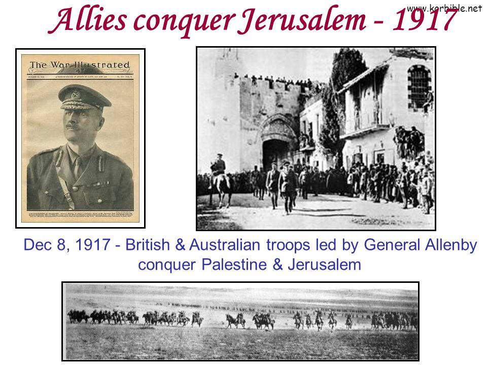 Allies conquer Jerusalem - 1917