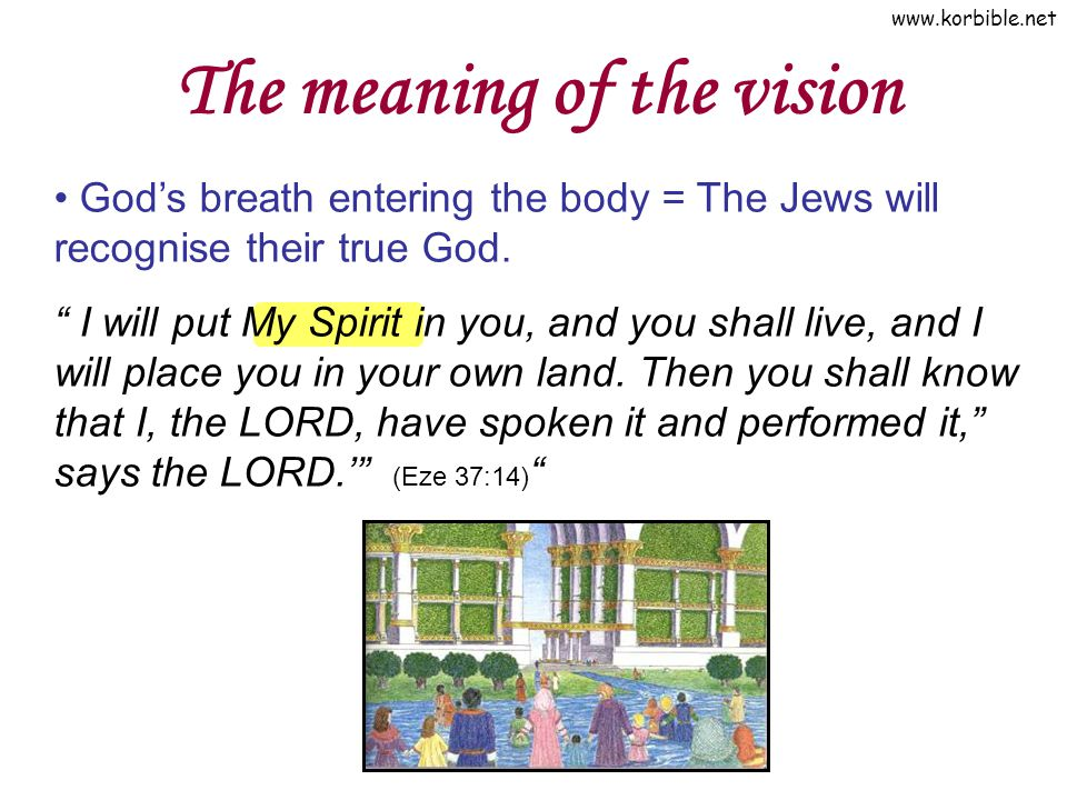 The meaning of the vision