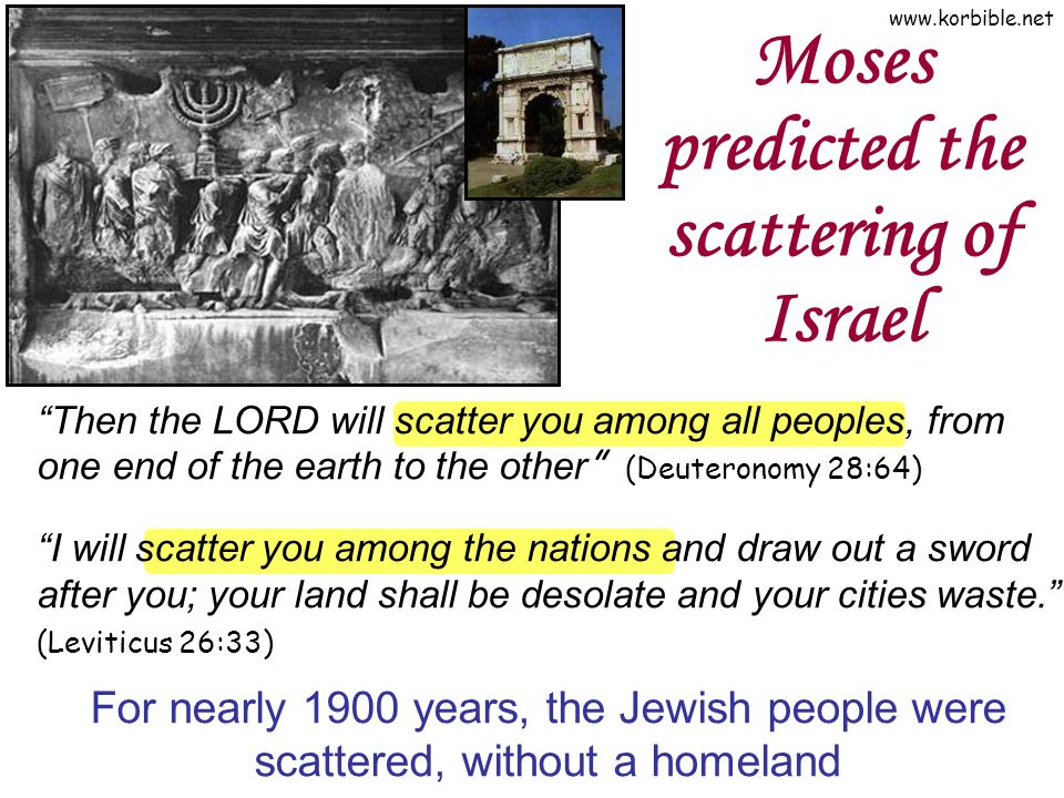 Moses predicted the scattering of Israel