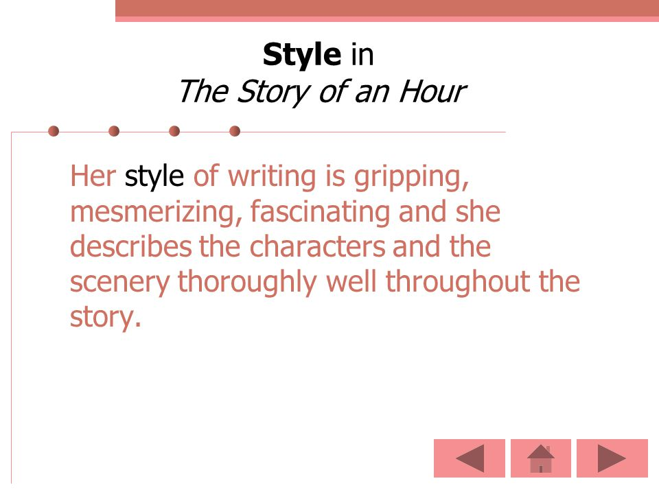 Style in The Story of an Hour