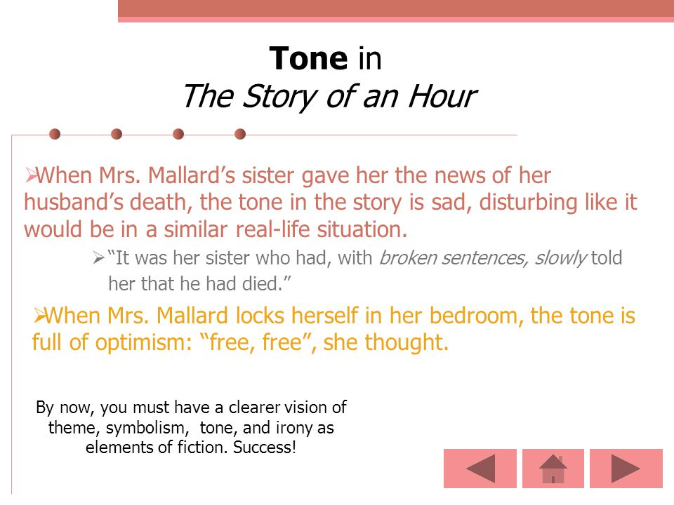 Tone in The Story of an Hour