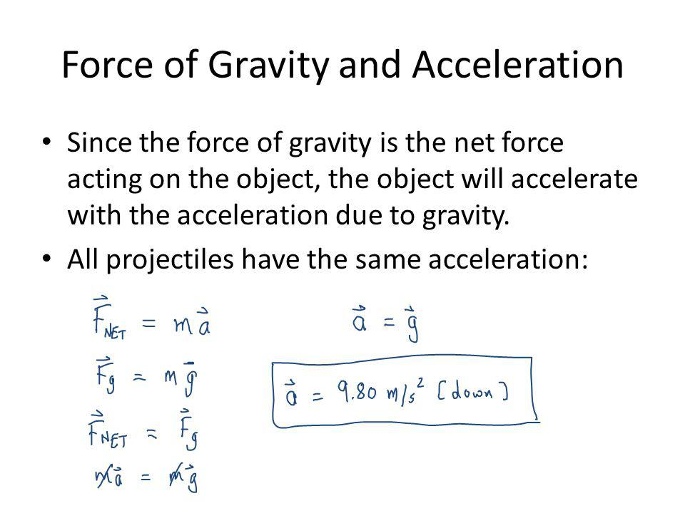 Force of Gravity and Acceleration