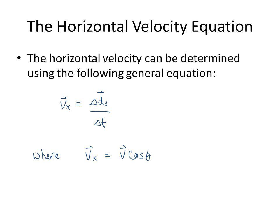 The Horizontal Velocity Equation