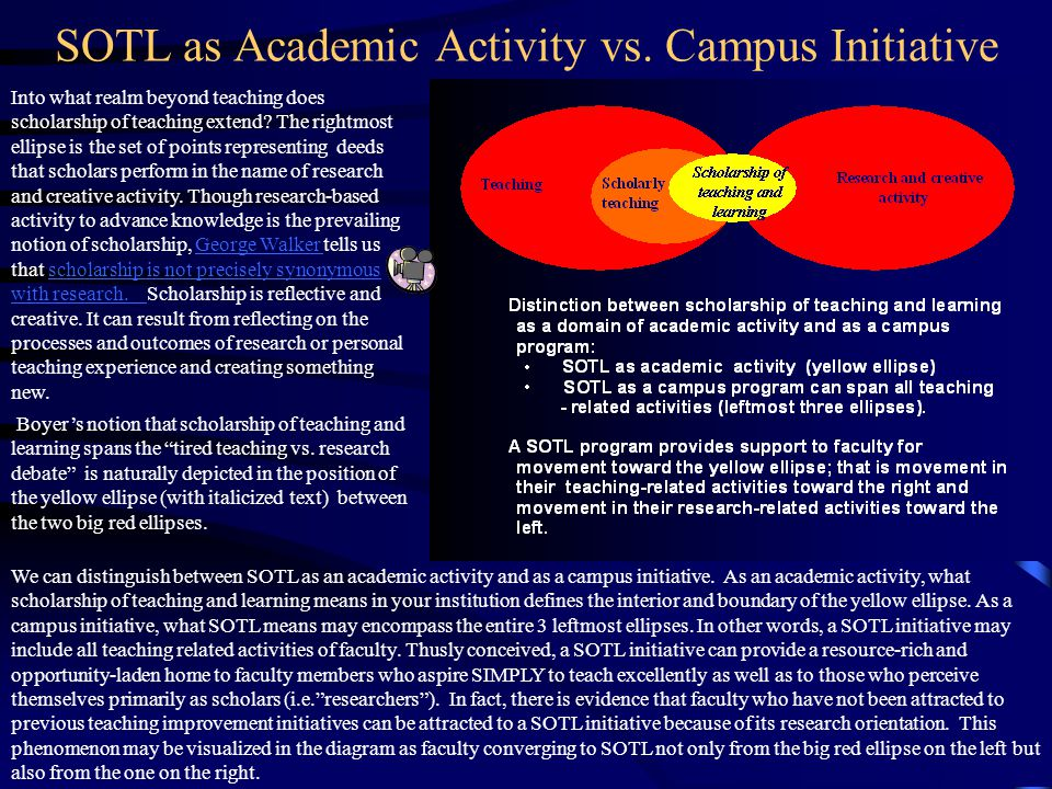 SOTL as Academic Activity vs. Campus Initiative