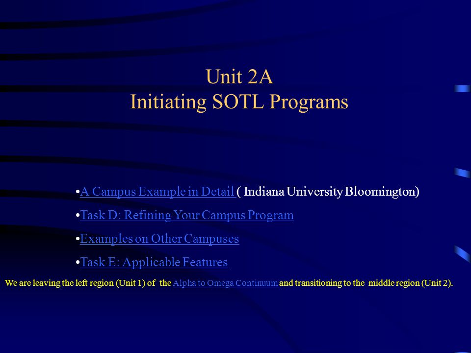Unit 2A Initiating SOTL Programs
