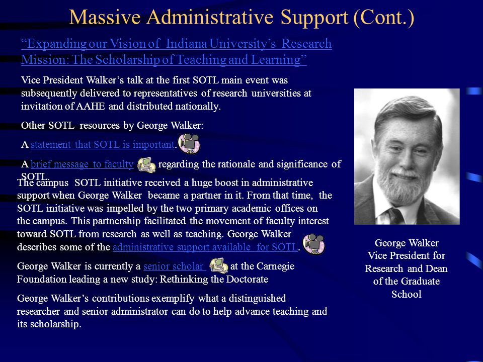 Massive Administrative Support (Cont.)