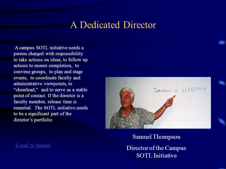 Director of the Campus SOTL Initiative